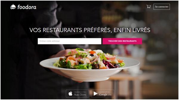 Copie Ecran Site Foodora